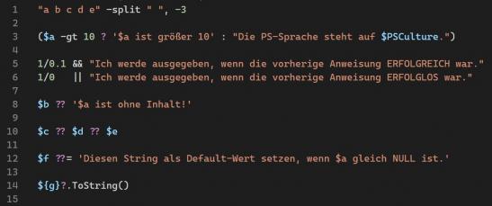 PowerShell 7 Neue Operatoren Beispiel 1