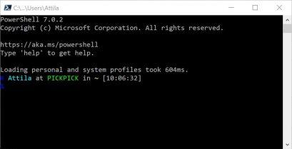 PowerShell Console PwSh7 Beispiel 1
