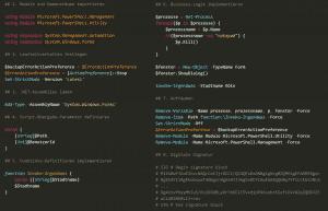 Ideale Aufbau einer PowerShell-Script-Datei