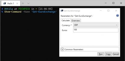 PowerShell WPF GUI Beispiel Show Command