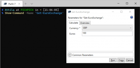 PowerShell WPF GUI Beispiel Show Command
